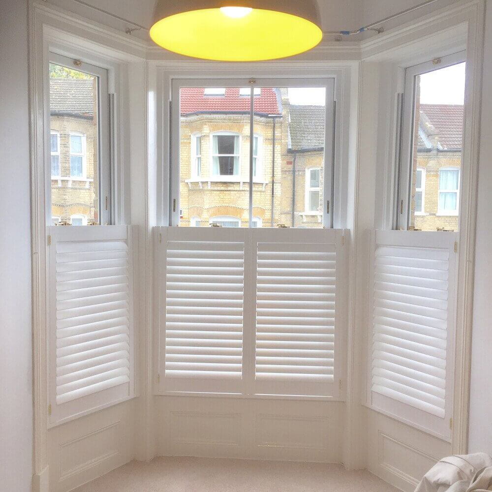 Bay Window Cafe-Style Shutters