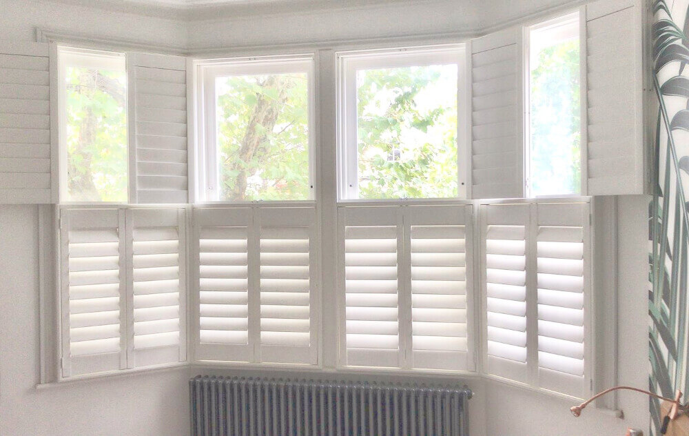 Bay Window Tier-on-Tier Shutters