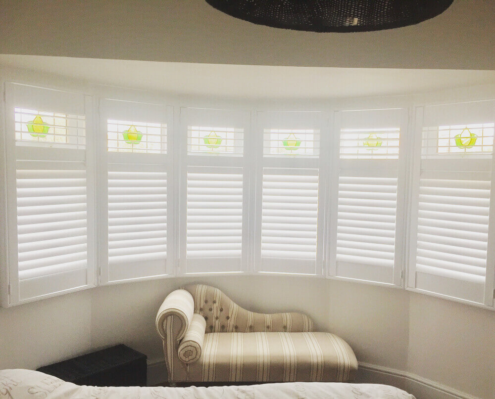 Bedroom Bay Window Hybrid Shutters