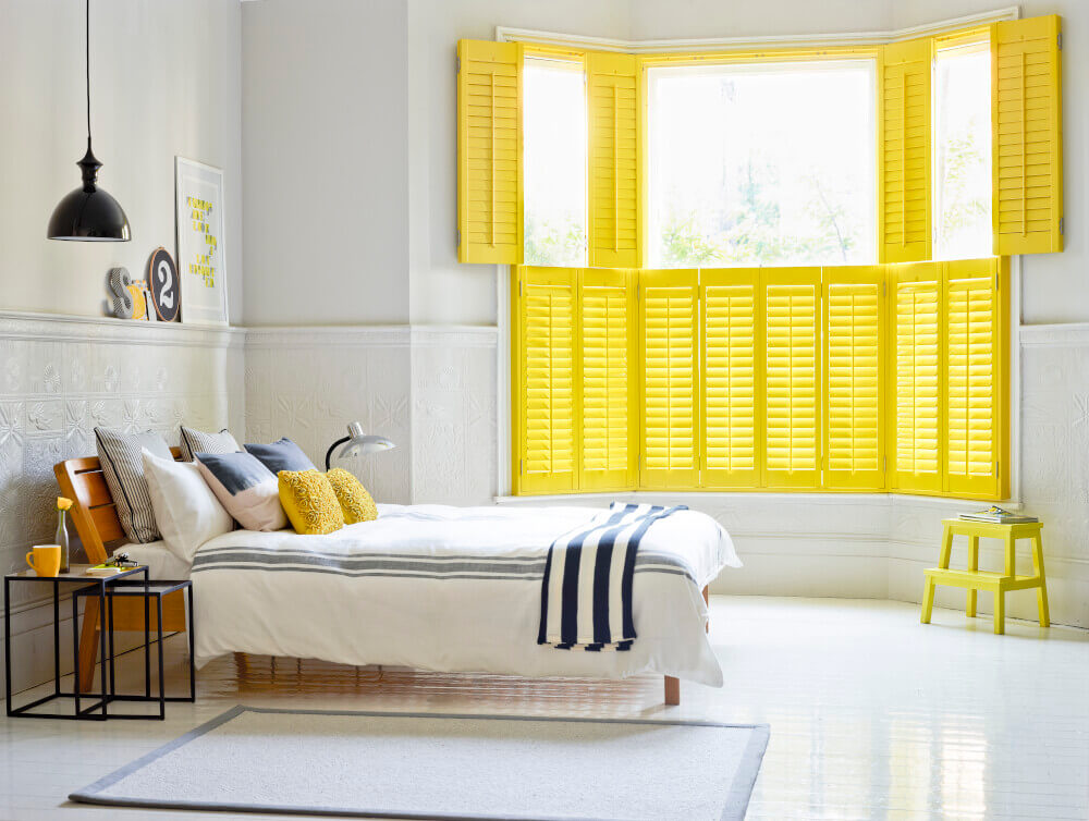 Bedroom Bay Window Tier-on-Tier Shutters