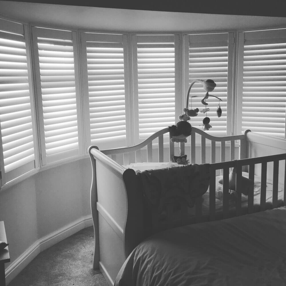 Bedroom Full Height Bay Window Shutters
