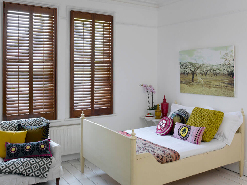 Bedroom Hardwood Shutters
