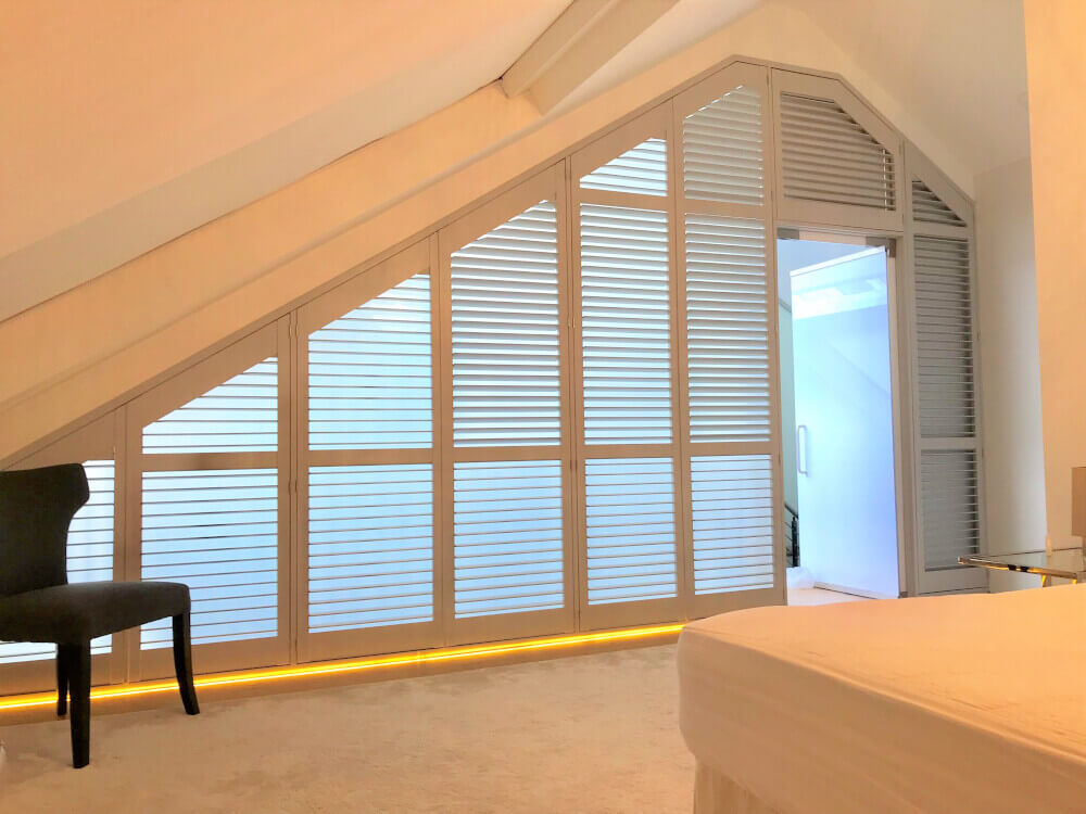 Bedroom Shaped Shutters