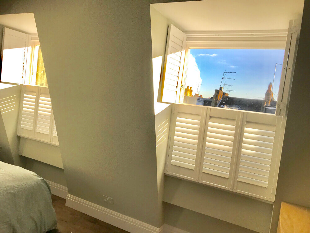 Bedroom Tier-on-Tier Shutters
