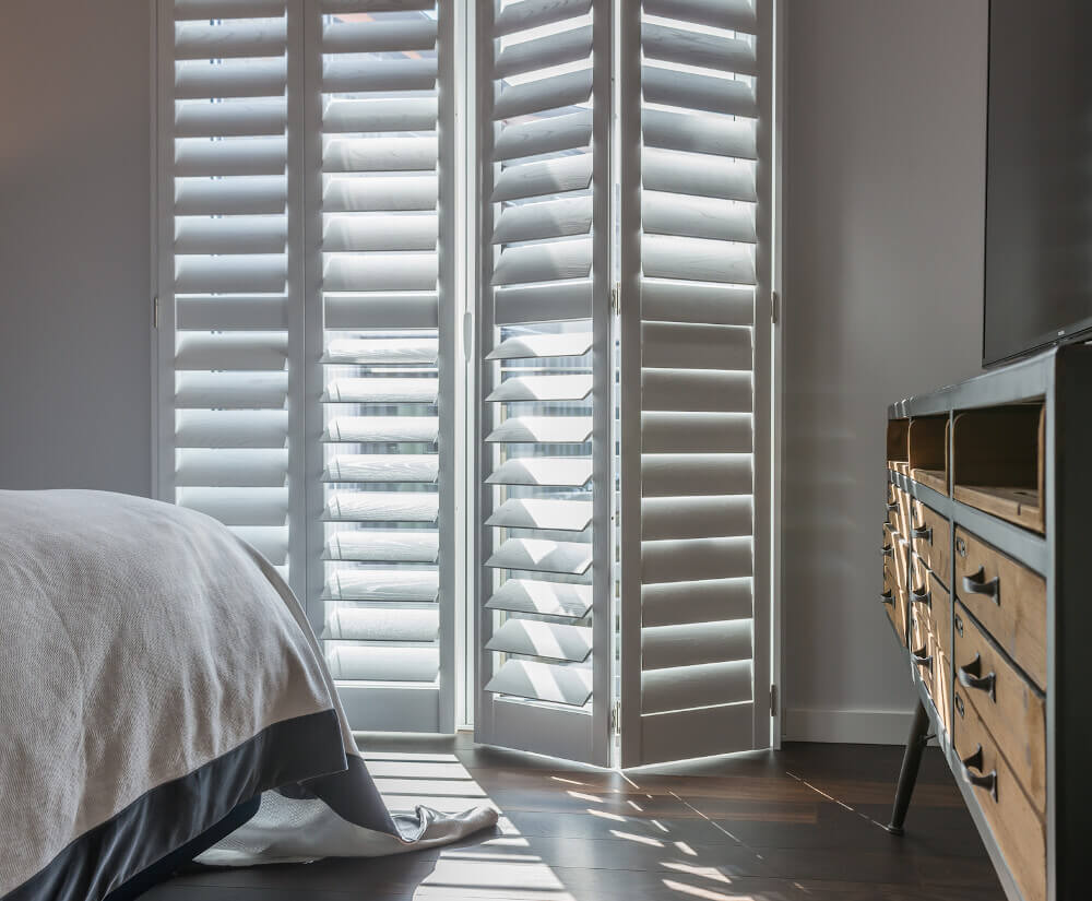 Bedroom Tracked Shutters