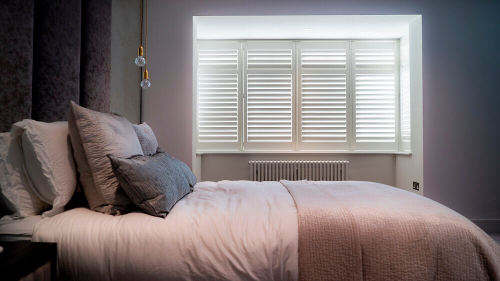 Bedroom Bay Window Full Height Shutters