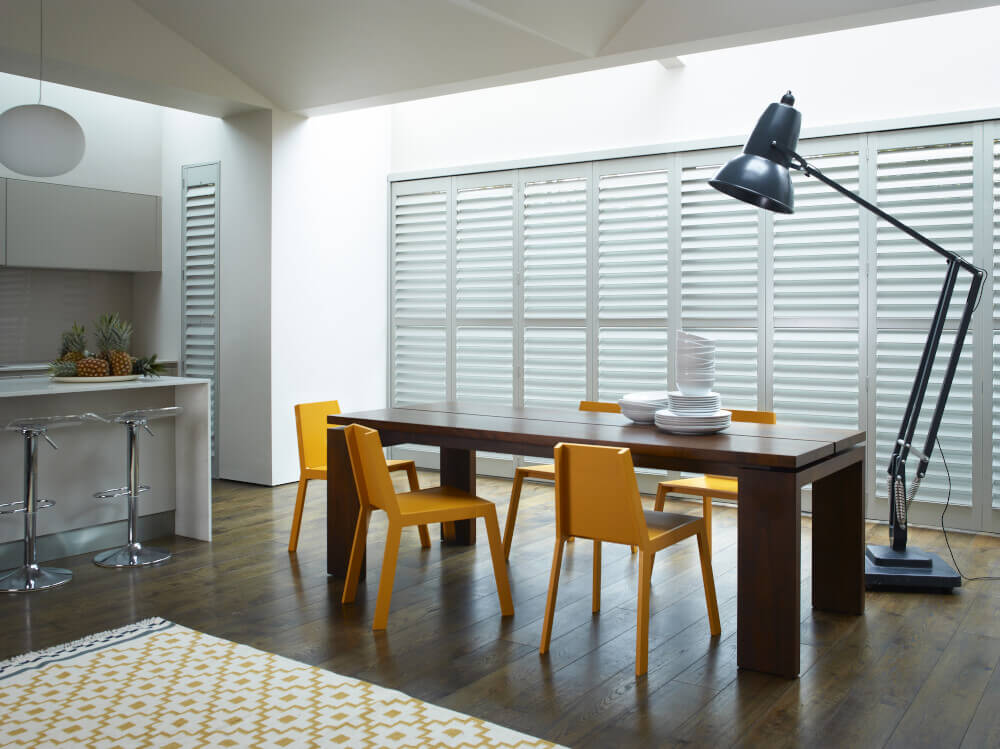 Kitchen Tracked Shutters