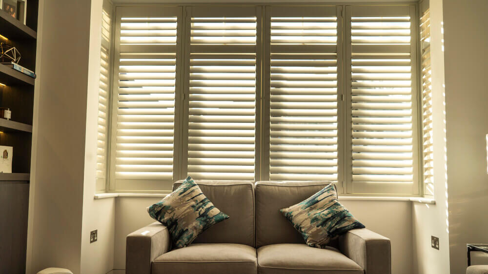 Living Room Bay Window Full Height Shutters