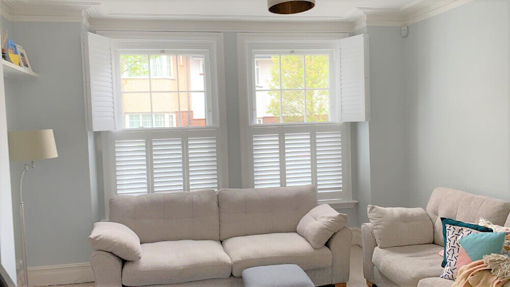 Living Room Bay Window Shutters