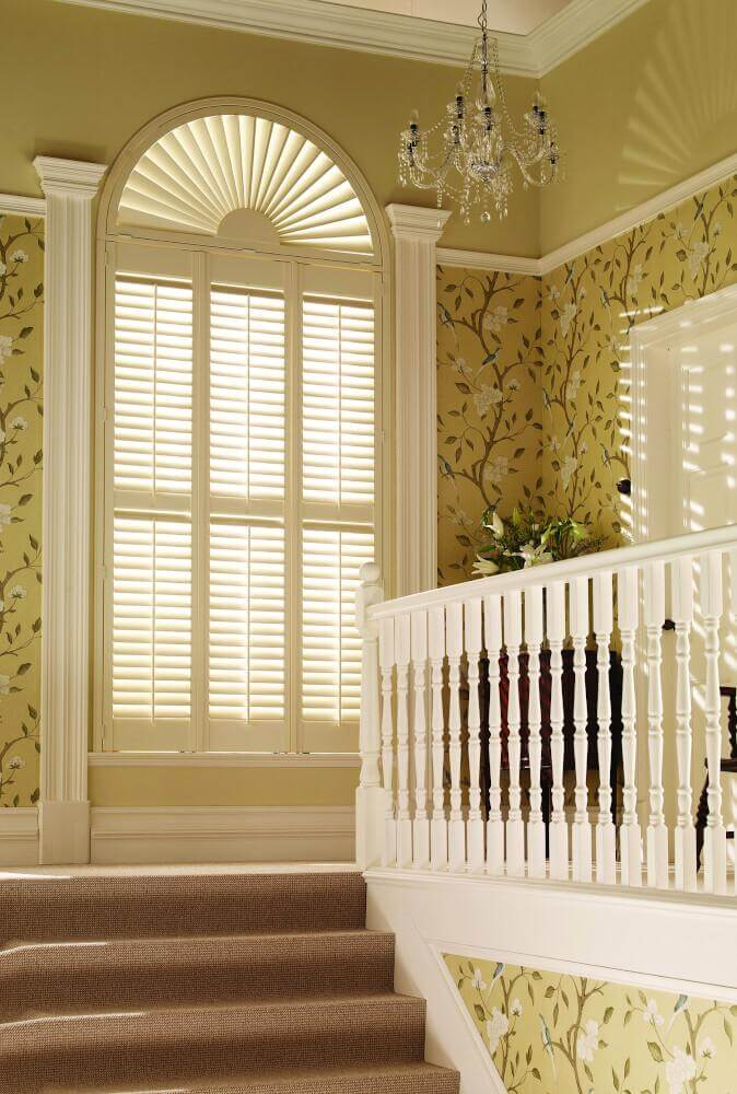 Tier-on-Tier Shaped Shutters