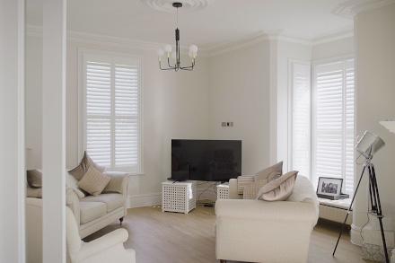 Living room shutters