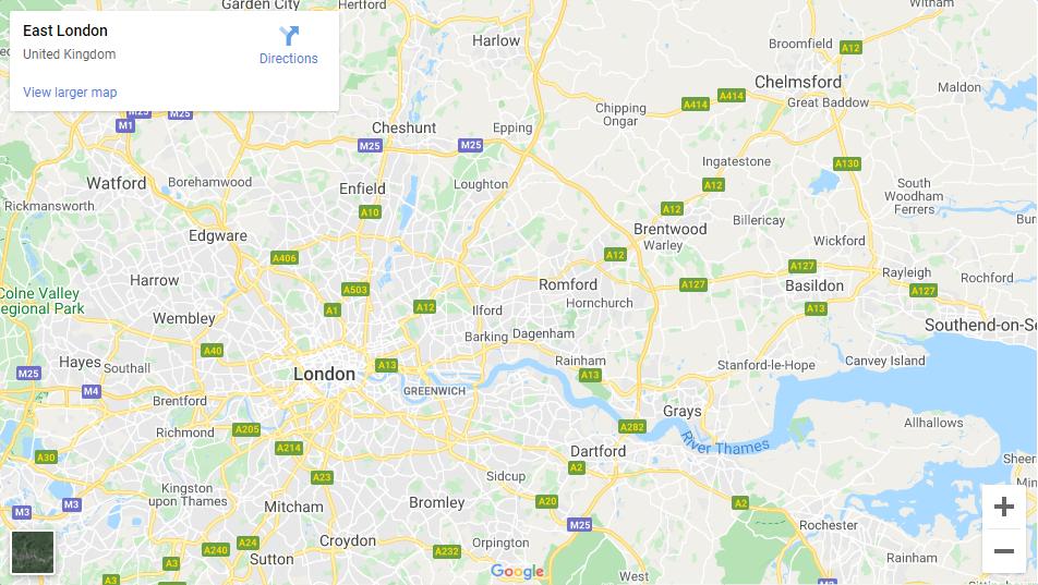 East London - Inshutters Maps