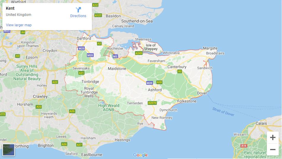 Kent - Inshutters Maps