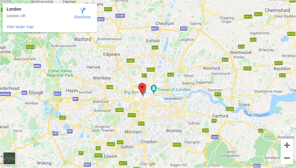 North London - Inshutters Maps