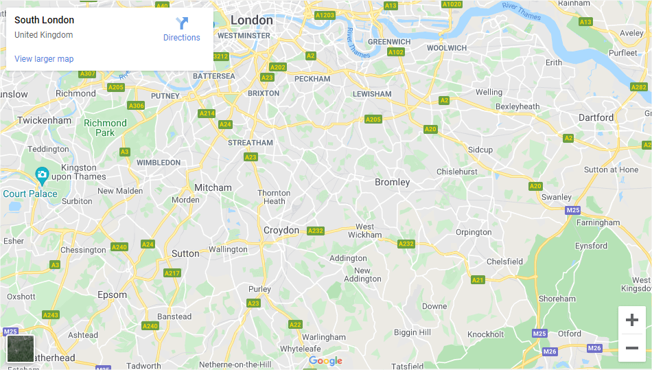 South London - Inshutters Maps