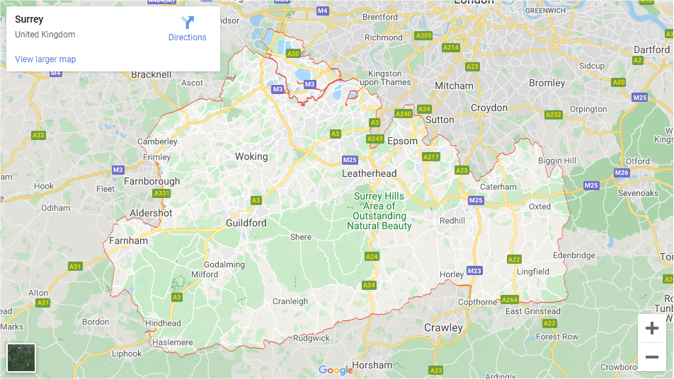 Surrey - Inshutters Maps